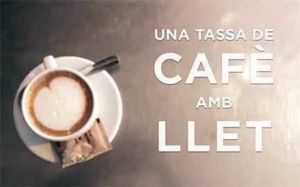 Una tassa de cafè amb llet